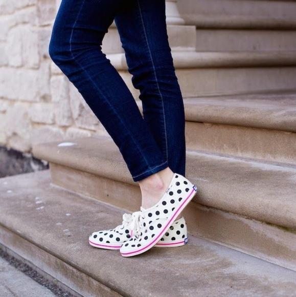 kate spade polka dot sneakers